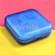 New Convenient Home Using Medicine Storage/Empty Casual Cross 4 Cells Pill Cases/Travelling Mini Pill Splitters(China)