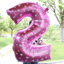 Big size 30inch pink/blue foil number 0-9 balloons for birthday party ballon Wholesale and Retail from Factory(China)