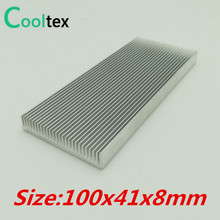 (Special offer) 100x41x8mm Aluminum HeatSink radiator Heat Sink (Dense tooth )(China)