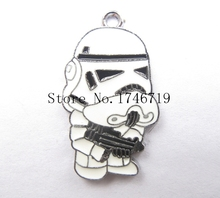 Hot Sale 10  pcs Cartoon Star Wars  Metal Charms DIY Jewelry Making Making Mobile Phone Accessories For Best Gift D-111