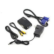 High Resolutcin Video S-Video BNC To VGA Converter Adapter Cable CRT/LCD Monitor Switch Box For CCTV Camera DVD DVR PC