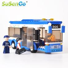 SuSenGo Building Blocks City Bus DIY Bricks Model Kit Educational Toys for Children Compatible with Lego