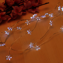 2M / 3M 20led /30led Battery CR2032 String Fairy novelty lights LED star Flower Christmas Home Garland bling holiday Decor