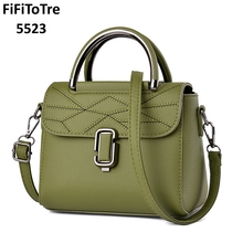 5523 Famous brands top quality 2018 NEW Fashion Sexy women Handbags leather shoulder bag HOT Sale Saddle bag Totes green(China)