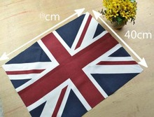 Classic UK Flag 49cm*4cm Cotton Polyester Fabric, DIY handmade pattern, free shipping(China)