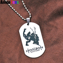 New Game Horizon Zero Dawn Logo Choker Necklace Pendant dog tag Keyring Key Chain Key Holder Charm Gift Wholesale drop-shipping