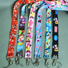Free Shipping 20/Lot Mickey Minnie Mouse PHONE LANYARD KEYS ID NECK STRAPS