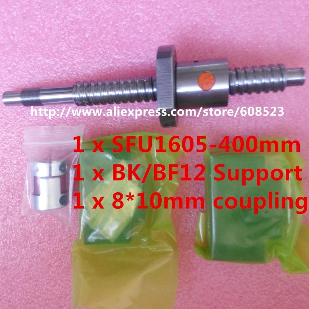 1pc antibacklash ball screw 1605 L400mm-C7+BK12/BF12 + coupler<br><br>Aliexpress