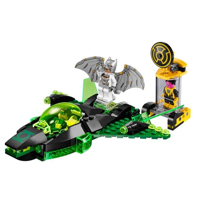 Green Lantern vs Sinestro  Marvel Super Heroes Spaceship Batman Model Building Toys  7109 Compatible With 76025<br><br>Aliexpress