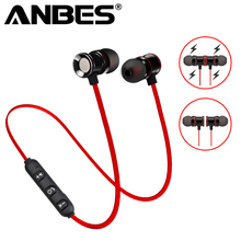 Buy ANBES Wireless Bluetooth V4.1 Earphone Metal Magnetic Headphone Sport Headset Earbuds Mic Handsfree Calls Fone de ouvido for $4.74 in AliExpress store