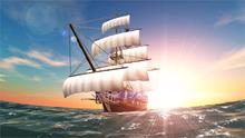 2017 Wall Pictures For Living Room Beautiful Amazing Sun Swimming Sea Sail Ship Course Sunbeam Sunrise Canvas Print