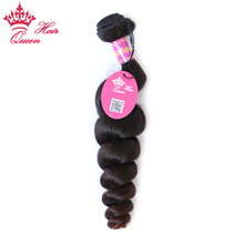 "Queen Hair Products Brazilian Virgin Hair Loose Wave 12"" to 28"" Natural Color 100% Human Hair Weaving Bundle Unprocessed Hair"