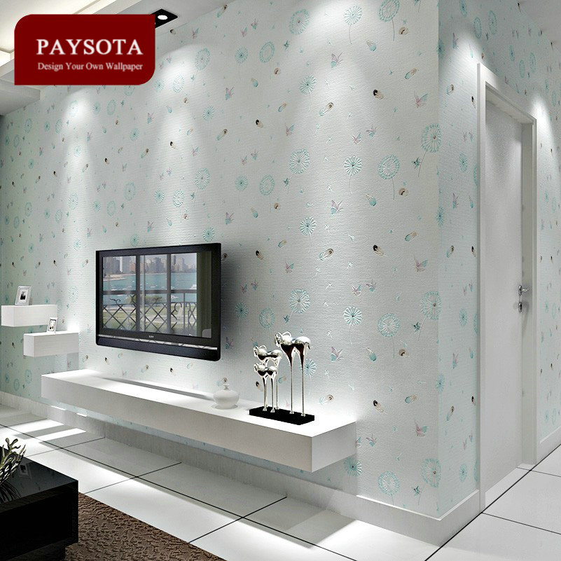 Limited Rushed Papel De Parede Style Non-woven Dandelion Wallpaper Sweet Bedroom Boys Girls Children Room Wall Paper <br>