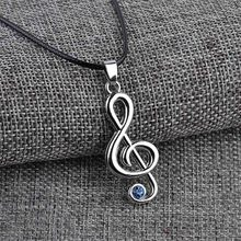 Anime Jewelry Hatsune Miku Character Treble G Clef Music Note Pendant Necklace Rope Chain For Men Women Gift Wholesale