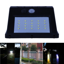 Solar Powered Solar Light 20 LED Sense Light Infrared Sensors Lamp Waterproof Outdoor Fence Garden Pathway Wall Light TH4(China)