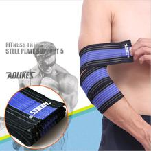 AOLIKES 7 Colors Wrist Knee Support Protection Belt Elastic Sports Bandage Wrap Brace Band Bandage Elbow Pad Length 70CM 2 Pcs(China)
