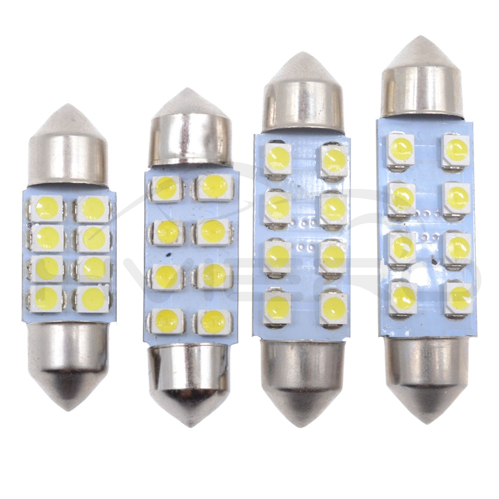 Hviero 31mm 36mm 39mm 41mm White 3528 1210 Car Light C10W C5W 8LED Festoon Dome Reading Door Lamp Decorating Tail Bulb DC12V Car Led