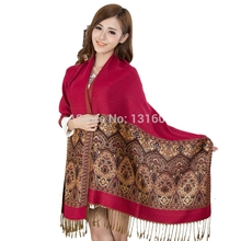 Women New Arrival Shawl Bohemian Fringe Pashmina Shawl Scarf Hot Fashion Scarf Wrap Scarf