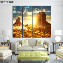 4 piece canvas landscape sunset Stone land artwork posters and prints wall art canvas prints decor Free shipping/up-1322D