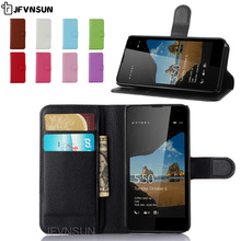 JFVNSUN Case for Microsoft Nokia Lumia 550 NEW Card Slot Wallet Magnetic Leather Flip Cover for Nokia Lumia 550 Stand Phone Bag