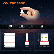 New Arrival COMFAST Free Driver Mini USB Wifi Adapter PC Network Card 150Mbps AP Function Desktop Wifi Receiver For Windows OS(China)