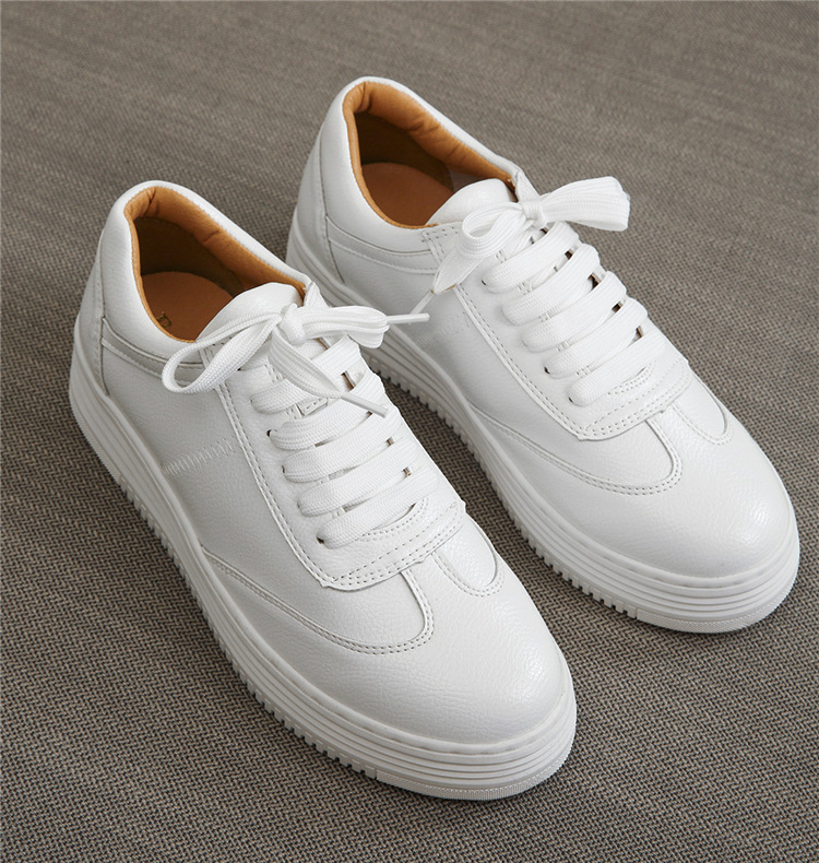 17 Women White Shoes Autumn Winter Soft Comfortable Casual Shoes Flats Platform Sneakers Real Leather Shoes Sapato Feminino 7