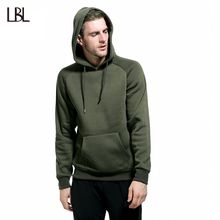 Russia Size Solid Fleece Hoodie Men Tracksuit Men's Thick Clothes Winter Hip Hop Hooded Sweatshirt Men Pullover Oversize 2017(China)