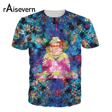 Raisevern New Arrive 3D T Shirt Digital Buddha T-Shirt Women Men Harajuku Clothing Tops Fashion Streetwear Tee Shirts Dropship