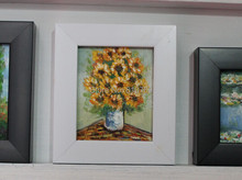 100% hand-painted  oil painting on Small thin board Match framework  high quality Beautiful flowers DM-928001