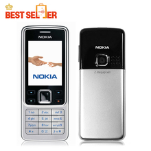 6300 Unlocked original nokia 6300 mobile phone russian keyboard Supported free shipping(China)