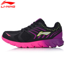 Li-Ning Women's Arc Element Cushion Running Shoes Breathable Light Weight LiNing Sneakers Sports Shoes ARHM028(China)
