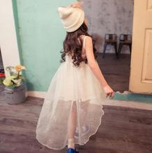 Beautiful Swallowtail Dresses For Girls Princess Mesh Sundress Vestidos Nina Summer Cool Carnival Costumes For Children