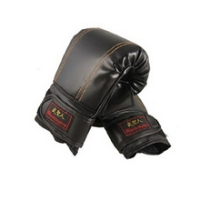 2pcs/set New Arrival Child Faux Leather Sports Boxing Training Gloves Black High Quality