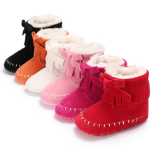 Baby Winter Booties Kids Shoes for Girls Boys Bow knot Baby Boots Newborn Cotton First Walker Toddler New Fashion Warm Snow Shoe