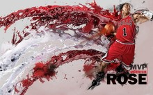 Derrick Rose Chicago Bulls NBA MVP Basketball Star  Silk Poster Art Bedroom Decoration 1134