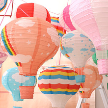 200 Pcs 30cm multicolor Paper Chinese wishing lantern hot air balloon Fire Sky lantern for Birthday Wedding Party decoration