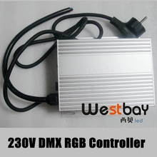 DMX512 led conrollers used for RGB led modules, led flexible strips and led neon flex, high quality and simple to use