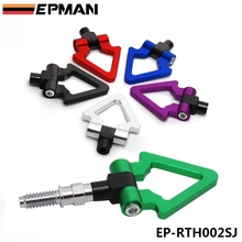 EPMAN - Racing Billet Aluminum Triangle Ring Tow Hook Front Rear For BMW European Car Trailer EP-RTH002SJ