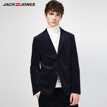 JackJones мужской Британский Стиль Вельвет Slim Fit Suit Jacket Solid color Smart casual Blazer City style-217308515(China)