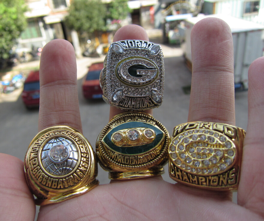 1965 1967 1996 2010 GREEN BAY PACKERS SUPER BOWL CHAMPIONSHIP RING 4 Together Football ring fan gift  -  Sport is my love store