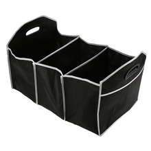 Car Trunk Organizer Collapsible Toys Food Storage Truck Cargo Container Bags Box Car Stowing Black Styling Auto Accessories