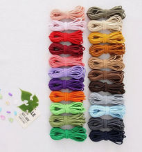 22 color,. 44 yard  2.5mm thickness elastic string  craft ropes jewelry cords rubber rope , elastic rope cord Free Shipping