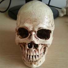 P-Flame small skull New Halloween decoration props realistic a terrorist than a human skull resin skull ornament(China)