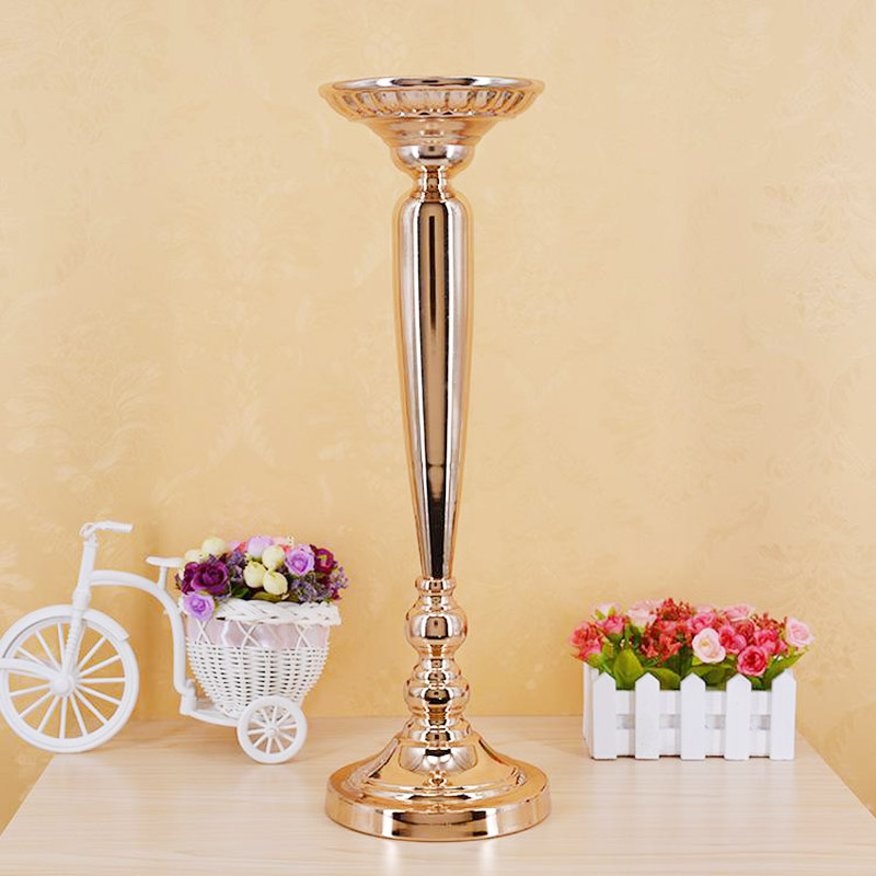 Metal Gold Candle Holders Road Lead Table Centerpiece