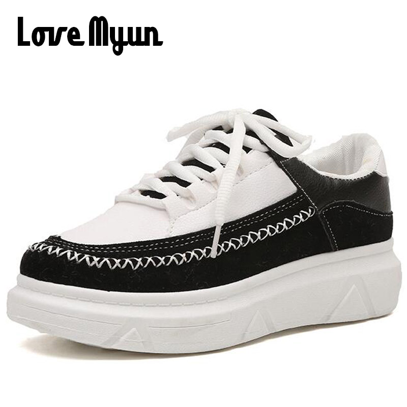 2018 brand fashion women shoes casual shoes Simple style Breathable lady shoes Sneakers Flat Lace up student shoes XB-38<br>