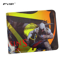 FVIP Game Wallet Assassin's Creed Master Assassin Altair Wallet For Young Boy Girl Student Leather Short Money Bag Wallet