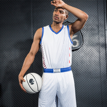 2017 New men Basketball Jerseys Sets High Quality men Blank Sports Running Clothing Adult Short Shirts Uniforms Suits YQX40(China)