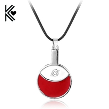 Sasuke Uchiha Cosplay Accessories Naruto Necklace Itachi Family Logo Pendant Jewelry Long Rope Chain Wholesale Retail