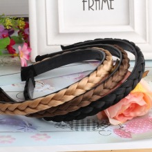New Women Vintage Wig Headband Braids Hair Band Girls Korea Style Headband Lady Hair Accessories(China)