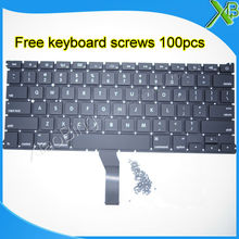 "Brand New For MacBook Air 13.3"" A1369 A1466 US keyboard+100pcs keyboard screws 2010-2015 Years(China)"